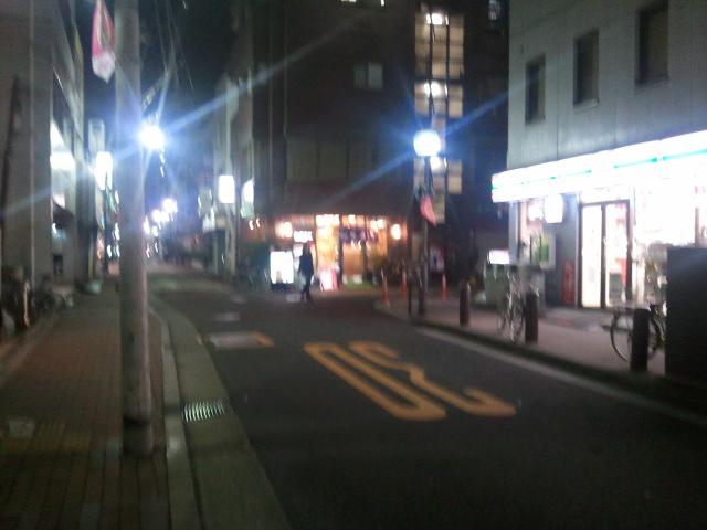 商店街の夜